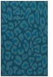 rug #623897 |  blue-green animal rug