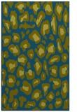 rug #623909    blue-green animal rug