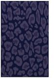 rug #623933    blue-violet animal rug
