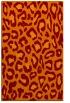 rug #624037 |  red-orange animal rug