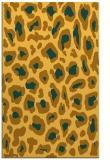 rug #624153    light-orange animal rug