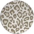 rug #624201 | round beige animal rug