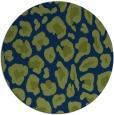 rug #624237 | round blue animal rug