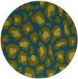 rug #624261   round blue-green animal rug