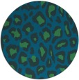 rug #624281 | round blue-green animal rug