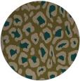 rug #624321 | round mid-brown rug