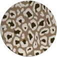rug #624353 | round beige animal rug