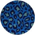 rug #624369 | round blue animal rug