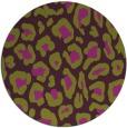 rug #624429   round green animal rug