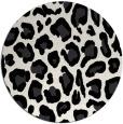 rug #624473 | round white animal rug