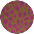 rug #624529   round light-green rug
