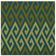 rug #626725   square green abstract rug