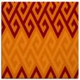 rug #626853 | square orange retro rug
