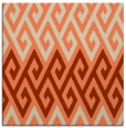 rug #626861 | square orange abstract rug