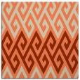 rug #626861 | square orange popular rug
