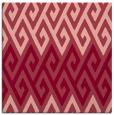 rug #626881 | square pink retro rug