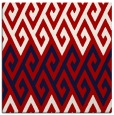 rug #626905 | square red abstract rug