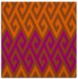 rug #626929 | square red-orange retro rug