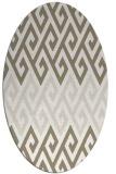 rug #627017 | oval beige popular rug