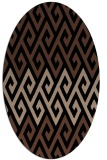 rug #627033 | oval brown rug