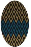rug #627037 | oval brown retro rug
