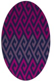 rug #627045 | oval abstract rug