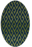 rug #627053 | oval blue abstract rug