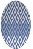 rug #627057   oval blue retro rug