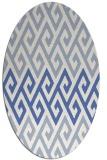 rug #627060 | oval retro rug
