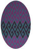 rug #627081   oval pink abstract rug