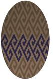 rug #627128   oval abstract rug