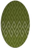 rug #627141 | oval green abstract rug