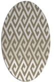 rug #627157 | oval white abstract rug