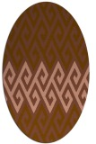 rug #627161 | oval brown retro rug