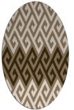 rug #627169 | oval beige retro rug