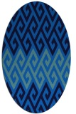 rug #627185 | oval blue retro rug