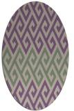 rug #627197 | oval purple abstract rug