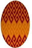 rug #627205 | oval orange retro rug