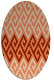 rug #627213 | oval orange popular rug