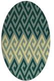 rug #627223 | oval retro rug
