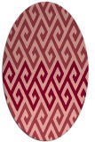 rug #627234 | oval retro rug