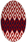 rug #627257 | oval red abstract rug