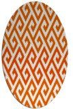 rug #627285 | oval red-orange abstract rug