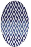 rug #627297 | oval white retro rug