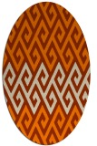 rug #627335 | oval abstract rug