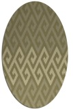 rug #627341 | oval light-green rug