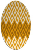 rug #627353 | oval light-orange retro rug