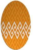 rug #627361 | oval light-orange retro rug