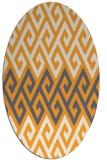 rug #627365 | oval white abstract rug