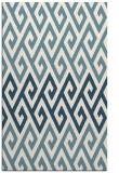 rug #627393    blue-green abstract rug